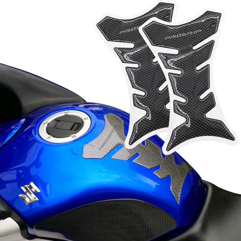 1pc/2pcs Car Motorcycle Tank Sticker Decals 3D Carbon Fiber Tank Pad Motobike Devil Skull Logo Protect Fuel Racing Accessories