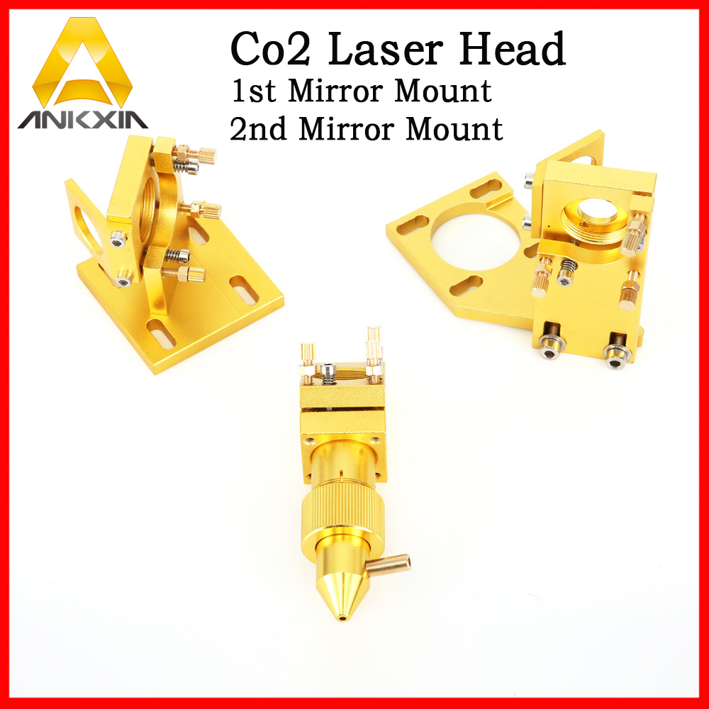 Co2 Laser Head Set For 3020 2030 4060 K40 Laser Engraving Cutting Machine DIY Parts robotec mini small card small business laser engraving cutting machine cnc co2 6040 4060