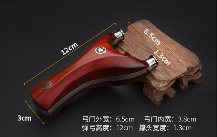 High quality solid wood precision titanium steel patch with purple - light tan free tie - line cutting flat skin slingshot jjff polaris top stainless steel 440c slingshot tricyclic design long range precision shooting solid wood handle permanent collection