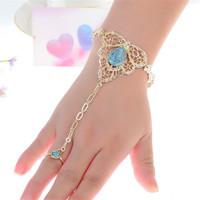 Fashion Womens Multilayer Tassel Slave   Bracelet     Bangle   Slave Finger Bead Harness Hand Chain Jewelry