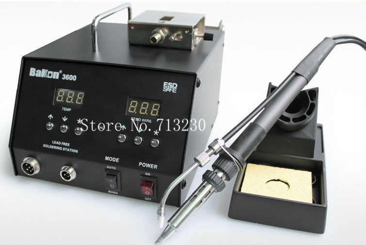 2015 New 50C~600C 150W High frequency digital display Lead Free Soldering Desoldering Station with Self feeder BK3600