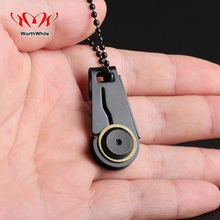 Creative Mini Zipper Knife Portable Outdoor Survival Emergency Tool Foldable Stainless Steel EDC Key Ring