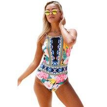2017 Floral Printed Swimsuit Bathing Suit Swimwear Beachwear For Women Net Pattern