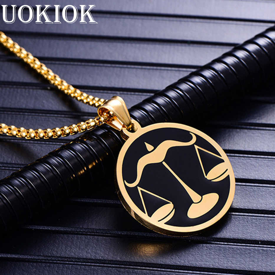 Leo 12 Constellations Necklace For Men Women Birthday Gifts Drop Ship Stainless Steel Gold Scorpio