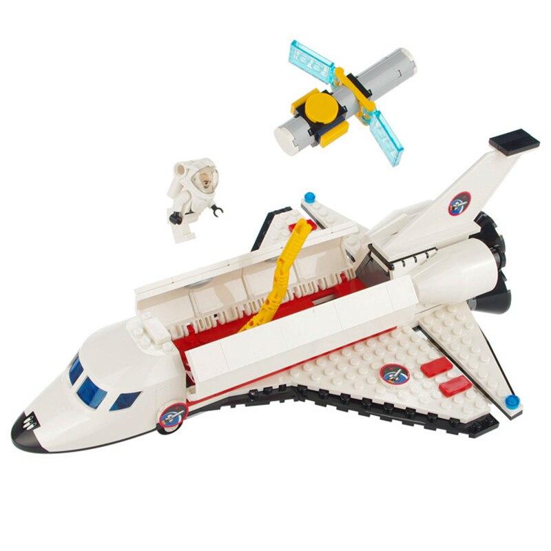 297pcs Space Shuttle Toy Enlighten Building Blocks Airplane Bricks Children DIY Gift Aerospace Aircraft Toys for Boys K0289-8814