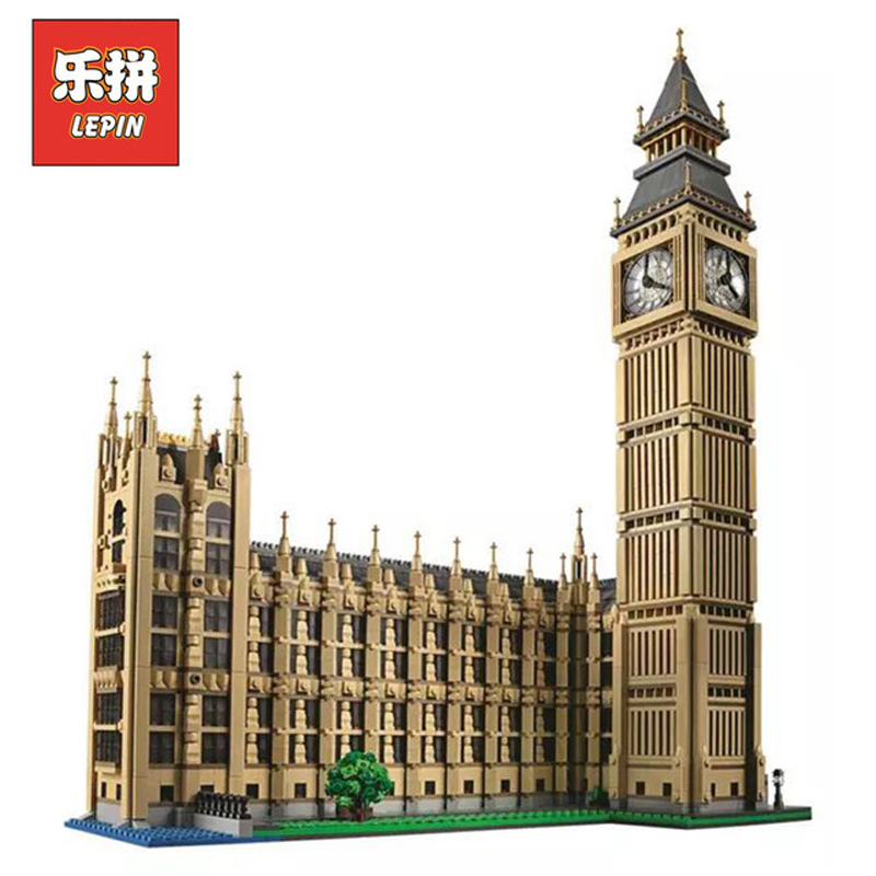 Stock DHL Lepin Sets 17005 4163pcs City Street Figures Big Ben Model Building Kits Blocks Bricks Kid Educational Toys Gift 10253 wange 8011 21 great architectures 11 models london bridge big ben tiananmen building block sets educational diy bricks toys