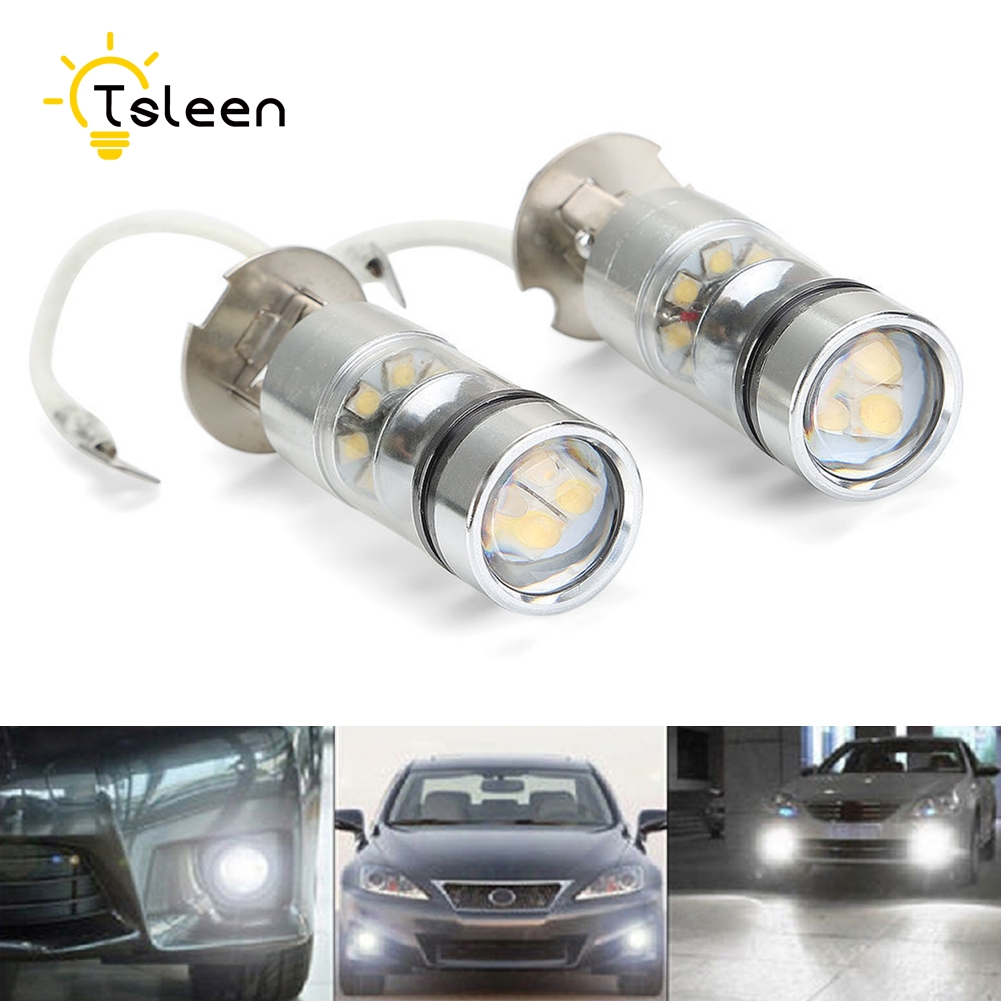 TSLEEN H3 20 Leds Auto Car LED Lamp Headlight LED Headlight Bulbs 360 Degree Car Light Fog Light 6000K 10W купить