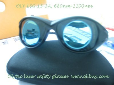 laser safety glassesOLY-LSG-15 680-1100nm laser safety glasses ,CE, O.D 4+ Good V.L.T % laser head kss 151a