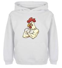 Unisex Sweatshirts For Boy Men Long sleeves Cute Funny cartoon Farm Yard Angry Chicken  Print Autumn Winter Couple Hoodies