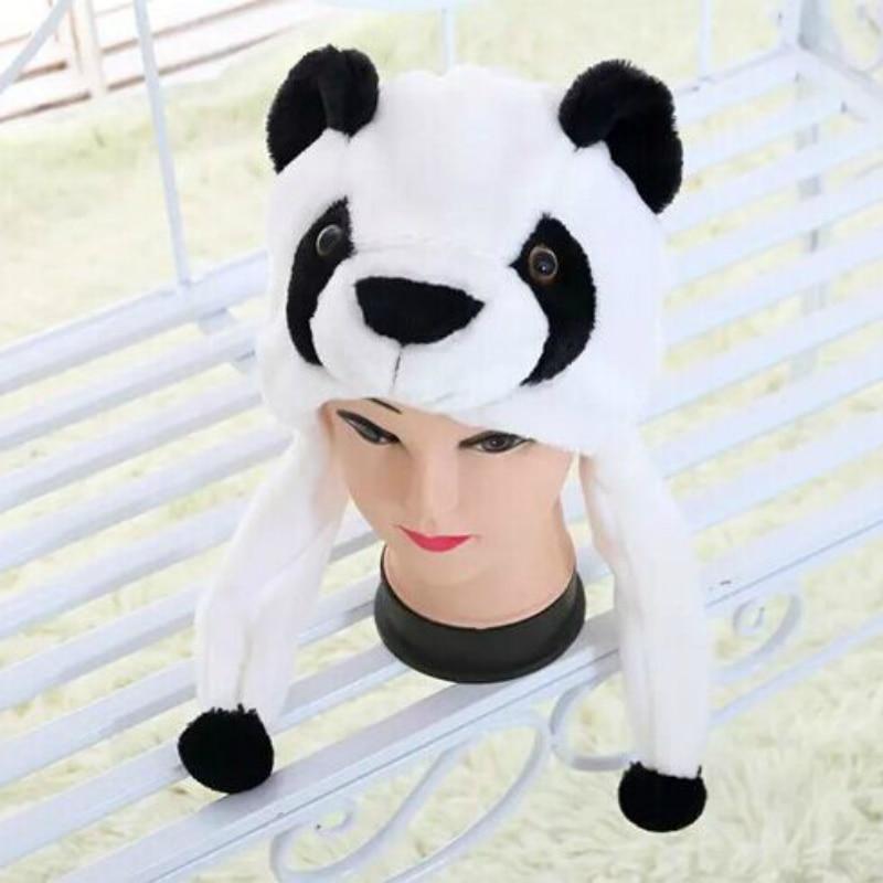 Cartoon Plush Animal Panda Hat Earmuffs To Keep Warm In Winter For Adult Child Skullies & Beanies