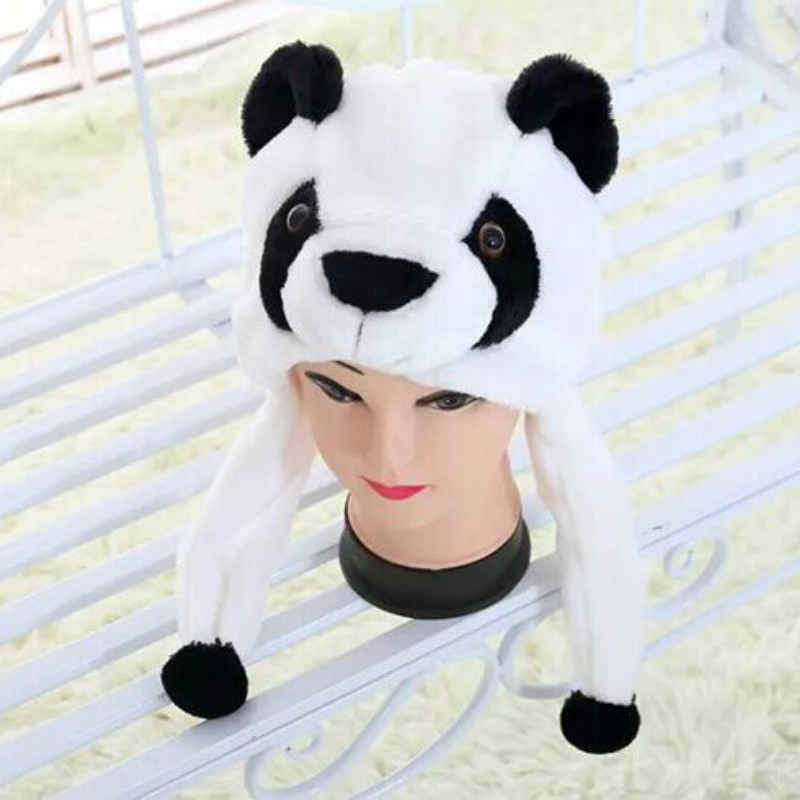 Cartoon Plush Animal Panda Hat Earmuffs To Keep Warm In Winter for Adult Child Skullies & Beanies