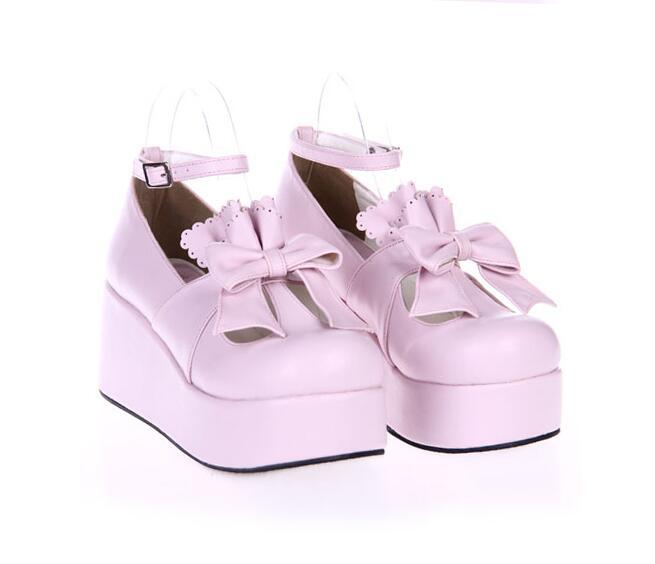 Pl Bow Cosplay Señora Mujer 33 Chica Lacework rosado Negro Altos Mori 47 Zapatos Tacones Angelical blanco skyblue Mujeres Impresión Princesa Lolita Bombas Vestido Partido wF1qxX5a