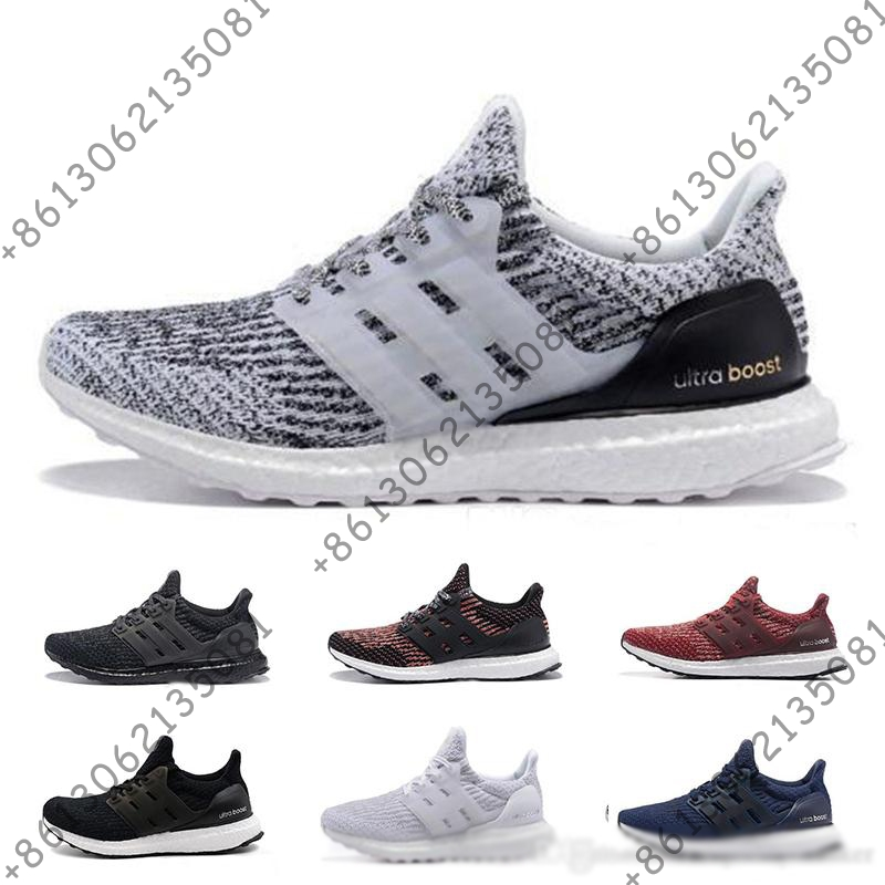 Boost 3.0 5.0 chaussures de course pour hommes femmes baskets de haute qualité noir blanc Primeknit Oreo bleu ultraboost baskets de sport