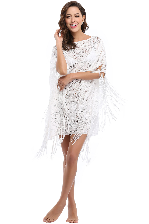 130d68d5fb77 Sext Short Beach Dress - High Quality White Lace Tassel Beach Dress Fashion  Loose Short Dress