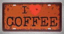 1 pc I love coffee Cappuccino espresso shop plaques Tin Plates Signs Brussel wall man cave Decoration Metal Art Vintage Poster