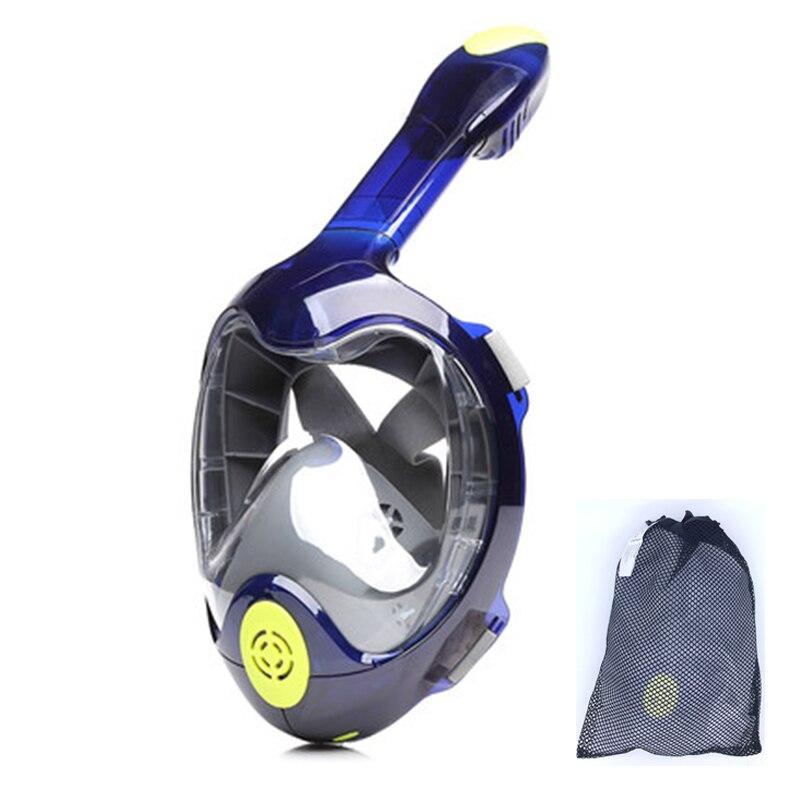 Masque de plongée complet HD 180 vue panoramique masque de plongée antibuée masque de plongée sous-marine équipement de natation adulte