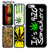 MaiYaCa Weed Leaf Bud Collage Soft TPU Case For iPhone 7 8Plus For iPhone 6 6S Plus 5 5S SE X Soft Rubber Phone Back Cover