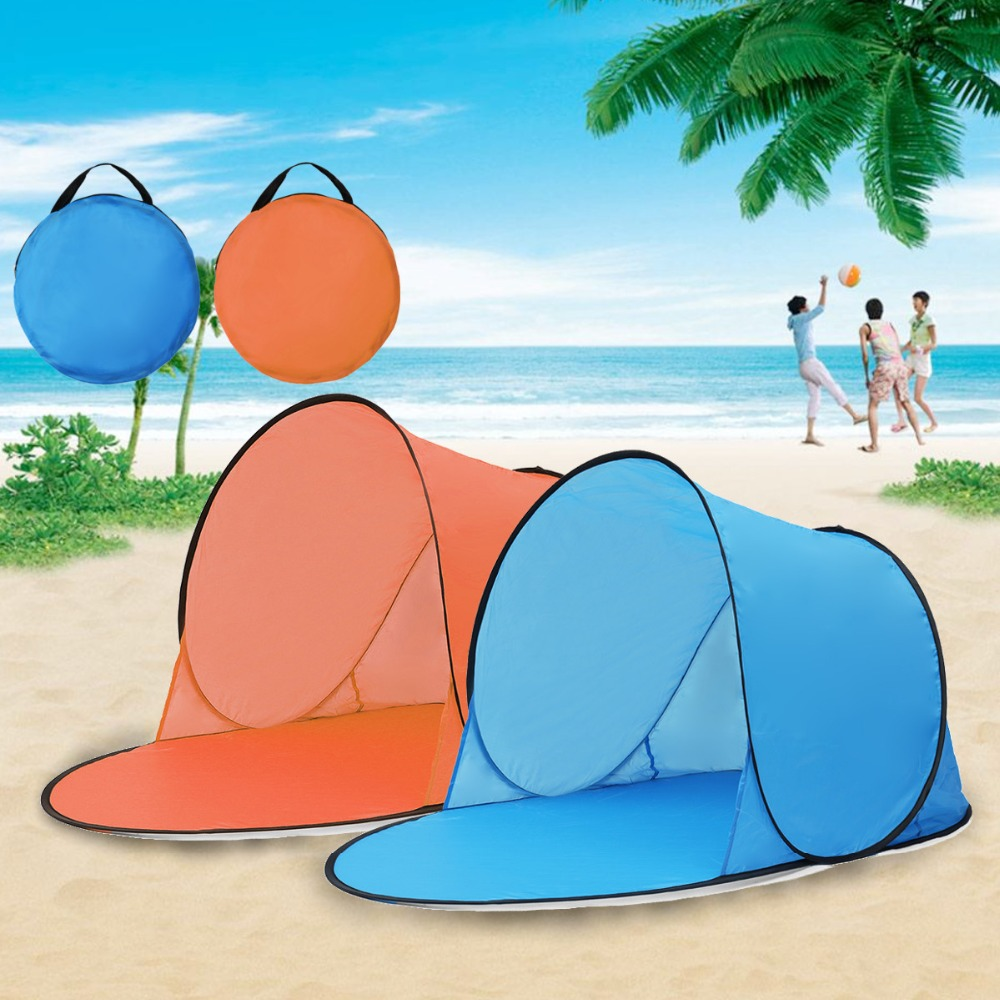 Outdoor CampingTent Waterproof UV Automatic Up Quick Open Beach Sunshade Canopy Toy Tents For Children Baby Gifts