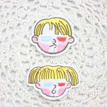 Two kinds optional boy and girl patch patches clothing embroidery iron on sewing accessories badge 6 pcs