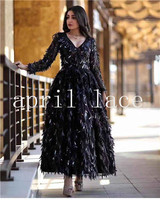 5 yards new bzh02 black /beige 3d big sequin embroidery mesh tulle lace fabric for sawing /wedding