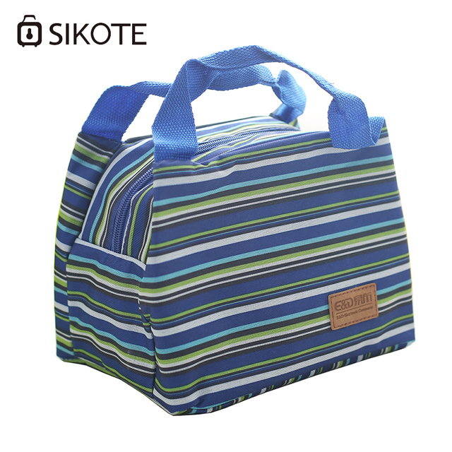 SIKOTE Portable Insulation Package Lunchbox For Women Kids Cooler Bag Thermal Oxford Cloth Striped Ice Storage  sc 1 st  AliExpress.com & SIKOTE Portable Insulation Package Lunchbox For Women Kids Cooler ...