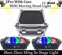 Hot Portable NEW 2pcs Lots Moving Head Light Mini LED Spider 8x6W RGBW Beam Light Good