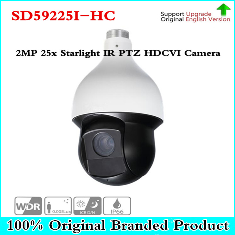все цены на Original DH english SD59225I-HC HDCVI PTZ Camera 2MP 25x Starlight IR PTZ HDCVI Camera Without Logo SD59225I-HC camera онлайн