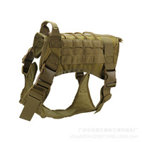 Dog Outdoor Tactical Vest Pet Dog Clothes Vest Load Bearing Training Nylon French Bulldog Large Dog Vests Military Pets Supplies