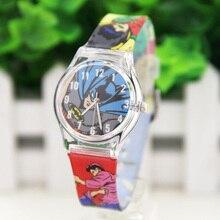 ot02 Lovely Marvel Hero Batman Analog Snap On Silicone Sports Quartz Wrist Plastic Watch