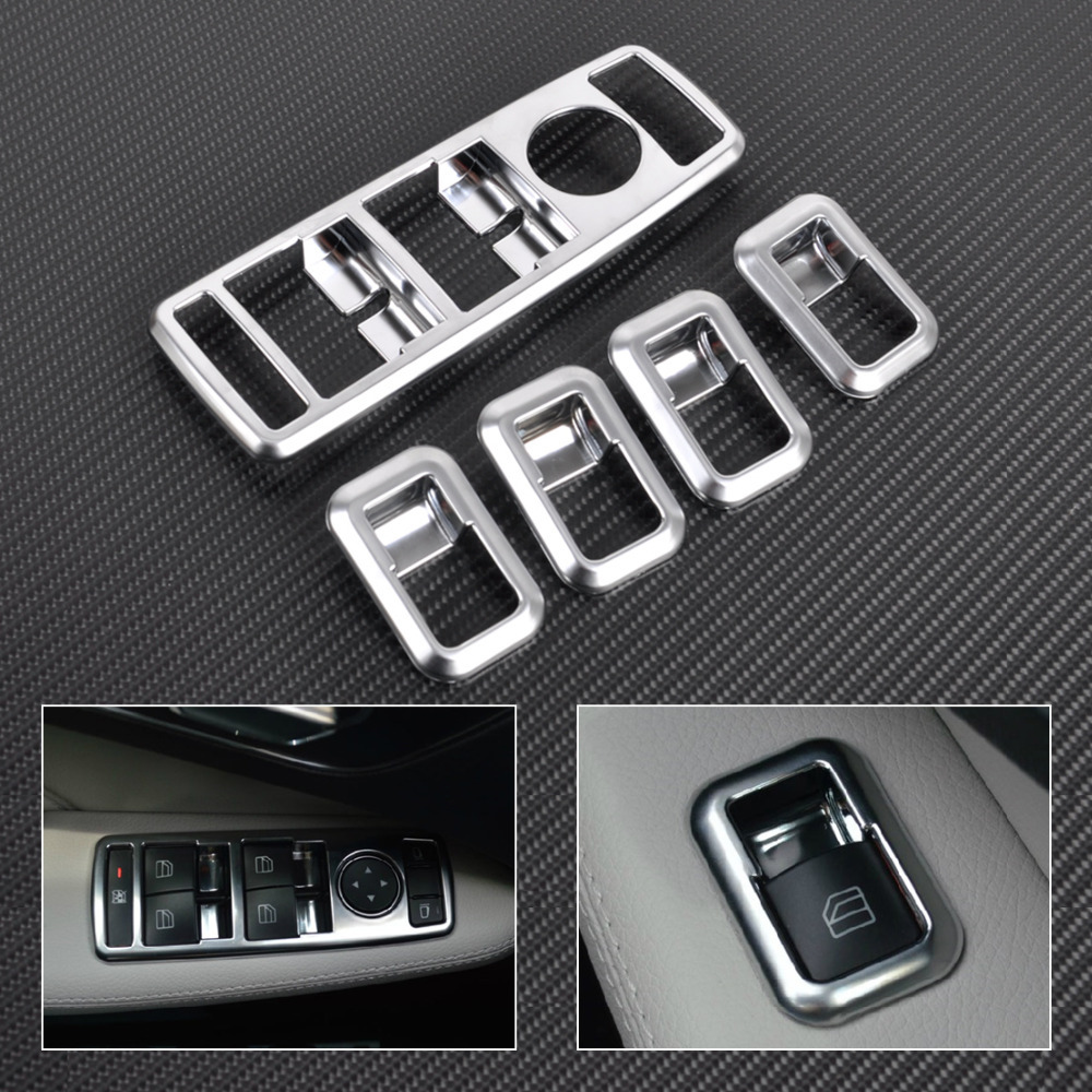 buy citall car interior matt chrome door window switch panel cover trim for. Black Bedroom Furniture Sets. Home Design Ideas