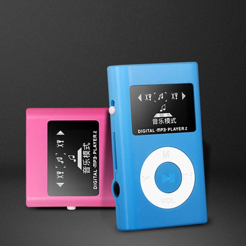Portable Mini lecteur Mp3 couleur coque en plastique avec écran Lcd Support Tf carte écouteur musique Support autonome/costume nouveauté