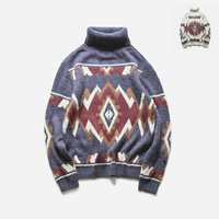 2017 Latest Fashion Trend Youth Style Small Fresh Men Sweater Knitting Pattern Round Neck Collar Tapping