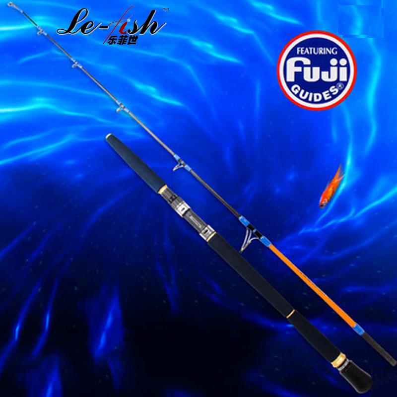 Carbon Fiber Material EVA Spinning&Casting Jigging Fishing Rod Boat L.W 100-300g Accessories 1.65m 2 Section Jig Lure Strong carbon boat feeder fishing rods casting poles h mh spinning jig rod 2 two tips 2 28m camouflage snakehead fish jigging pole 2017