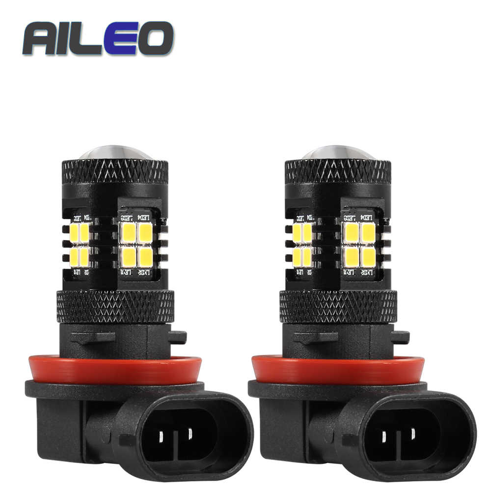 AILEO 2Pcs H11 9005 H16(JP) LED Lamp Super Bright Car Fog Lights 3000K 6000K White Auto Led H8 H9 Bulb
