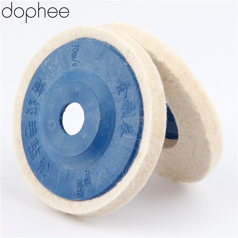 dophee 100mm Wool Polishing Wheel Buffing Pads Angle Grinder Wheel Felt Polishing Disc for Metal Marble Glass Ceramics 1PC scuba dive light