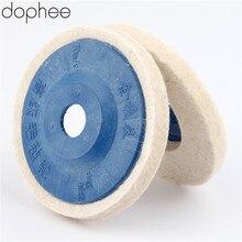 Dophe полировальный диск 100 мм для полировки шерсти, шлифовальный круг, шлифовальный круг, войлочный полировальный диск для металла, мрамора, стекла, керамики 1 шт.