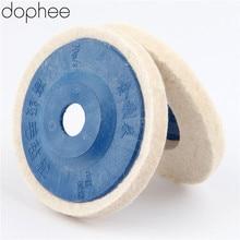 Dophee 100mm Wolle Polieren Rad Polieren Pads Winkel Grinder Rad Filz Polieren Disc für Metall Marmor Glas Keramik 1PC
