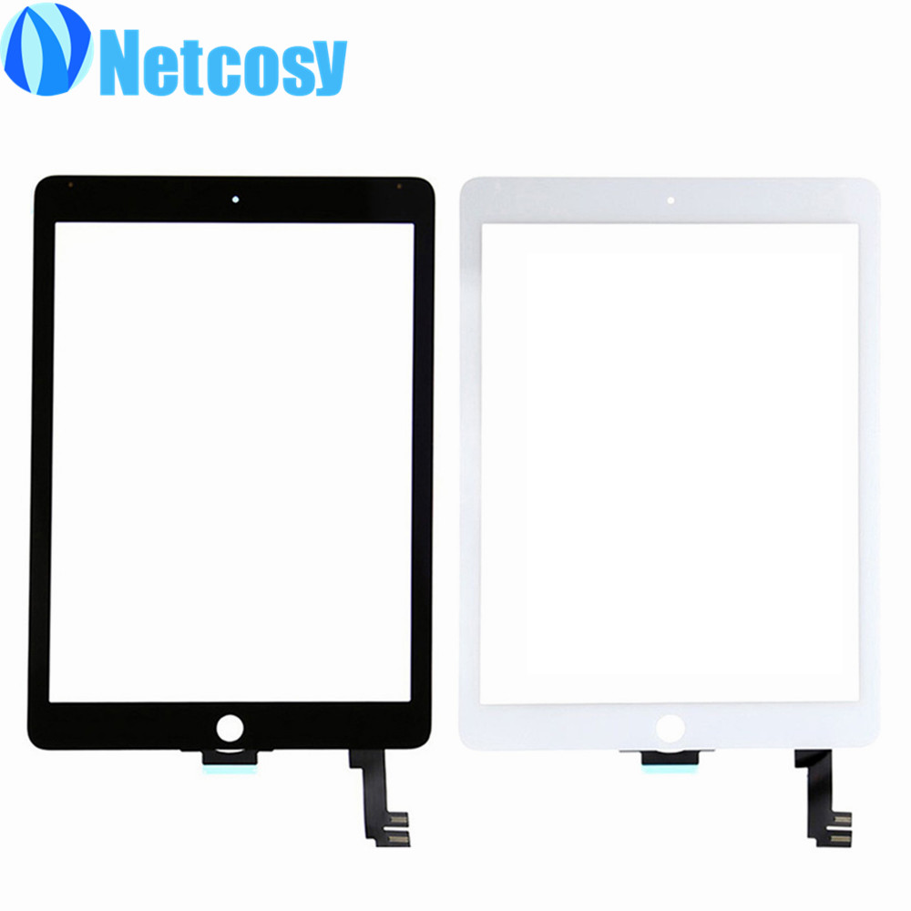 For ipad Air 2 Touchscreen touch screen glass digitizer lens repair for ipad 6 touch panel & 1pcs OCA Optical Clear Adhesive new replacement repair parts for ipad air 5th for ipad 5 touch screen digitizer