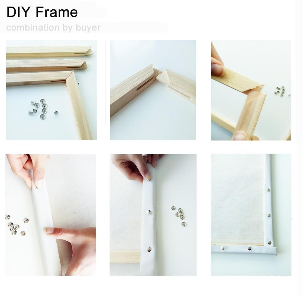 RUOPOTY Frame DIY Pikturë Nga Numrat Kits Ngjyrosje Bojë Në - Dekor në shtëpi - Foto 6