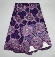 Z194purple, najwyższej jakości haftowane Szwajcarski woal koronki tkaniny, hurtownie Afryki bawełniane koronki dla partyjnej sukni!