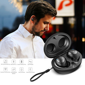 for wearable devices Mini True Wireless Bluetooth Earbuds Bass Twins Headset In Ear Stereo Headphones for relogio inteligente