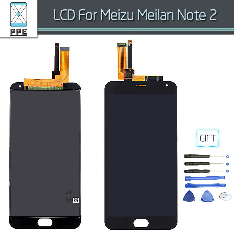 LCD Assembly For Meizu M2 Meilan Note 2 LCD Display Touch Screen Glass Digitizer Complete Replacement Free Shipping+Tools
