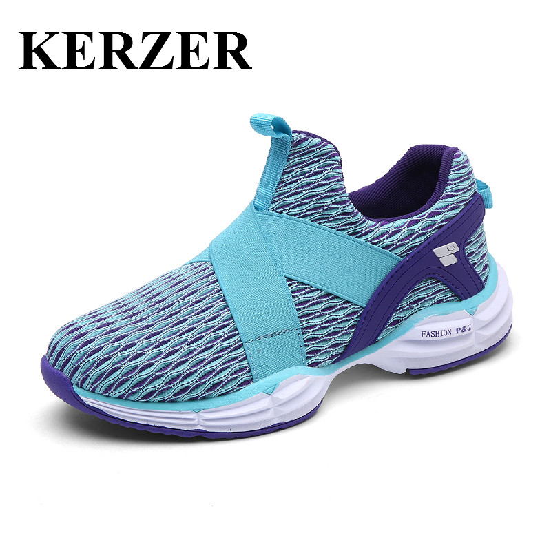 Hot 2017 New Brand Running Shoes Women Slip On Training Shoes Mesh Breathable Walking Jogging Sneakers Blue Gym Sneakers Lady adidas women s shoes running shoes training shoes sneakers free shipping
