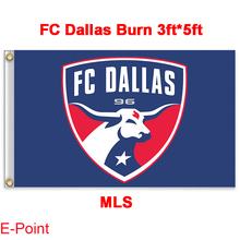 1 piece 144cm*96cm size MLS FC Dallas Burn Flying flag