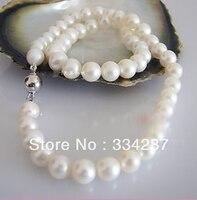 Großhandel gute Ziemlich! 8-9 MM Weiße Kultivierte Perlenkette 17