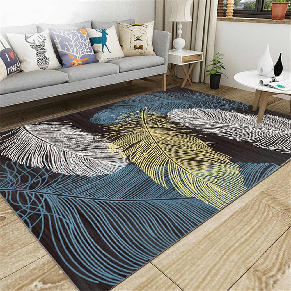 SHIERJU 80x160 cm Europe tapis de sol pour la maison 100% Polyeste imprimé anti-bactéries paillasson anti-dérapant chambre confortable tapis de cuisine