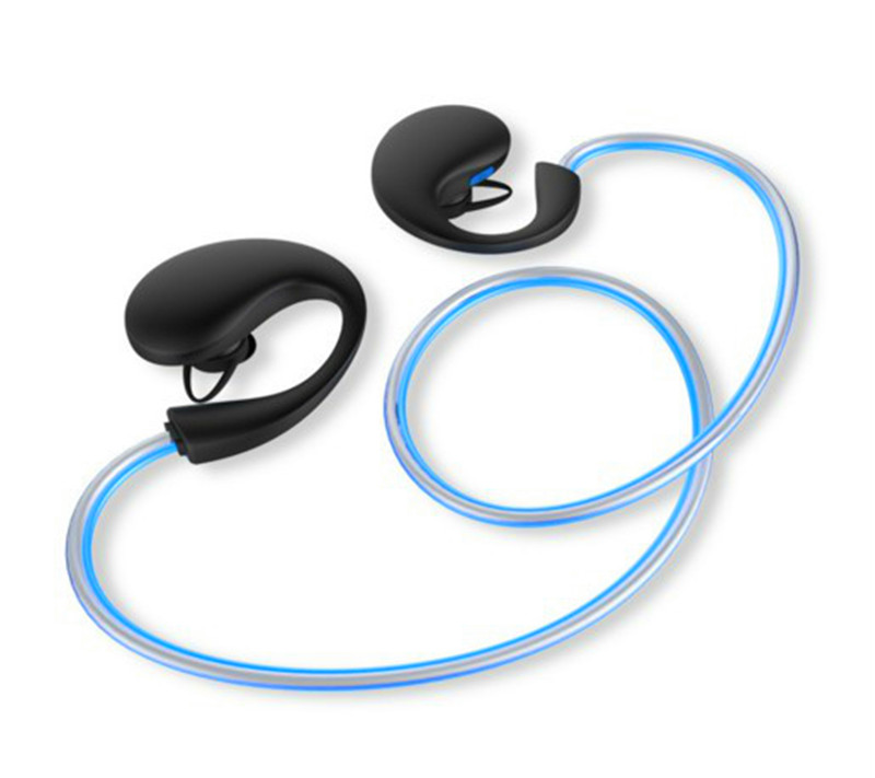 glow in the dark headphones bluetooth earset active noise cancellation luminous fitness earphones over ear headset neckband bone conduction earphones headset over ear headphones active noise cancelling hifi neckband for music listening to the phone