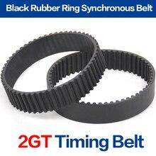 GT2 ремень черный Цвет 2GT ремня Ширина 6 мм/10 мм костюм для 3d принтер 2GT-172 2GT-180 2GT-188 2GT-190