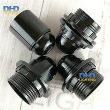 4/10/50 единиц E27 бакелитовые разъемы пластиковые в Китае(стандарты CE, UL держатели светильника 110 V/220 V 4 вида стилей черный пластик освещения баз