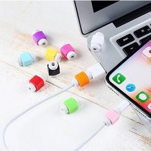 Silicone USB Cable Protector Earphone Wire Cord Protection Cover Data Charger line Protective Sleeve For Apple iphone 6 7 8 plus 10pcs usb cable protector saver earphone cord protection wire cover 8pin data charger line protective sleeve for iphone 7 8 plus
